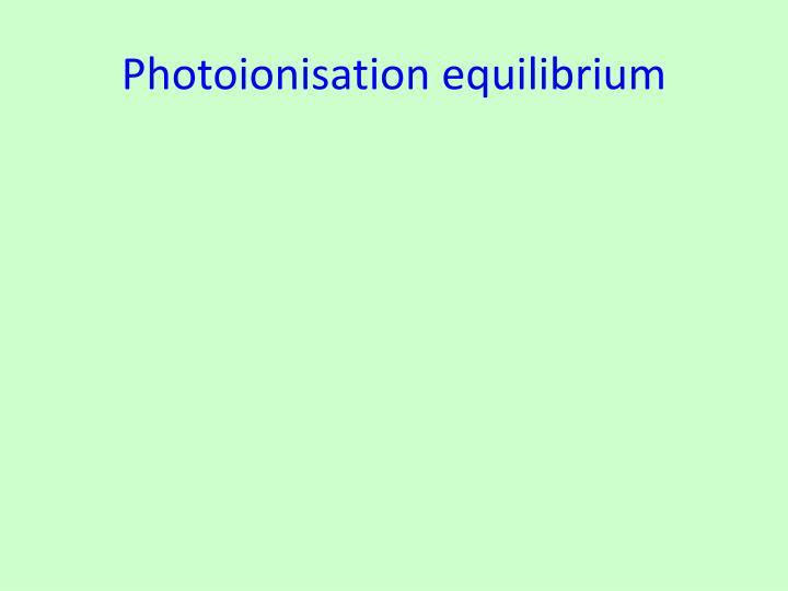 Photoionisation