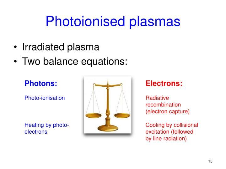 Photoionised