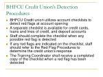 bhfcu credit union s detection procedures