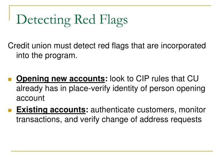 Detecting Red Flags