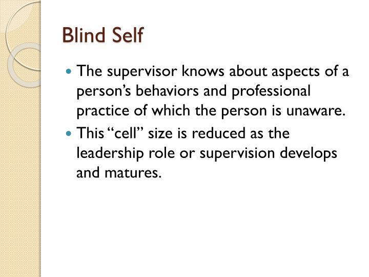 Blind Self