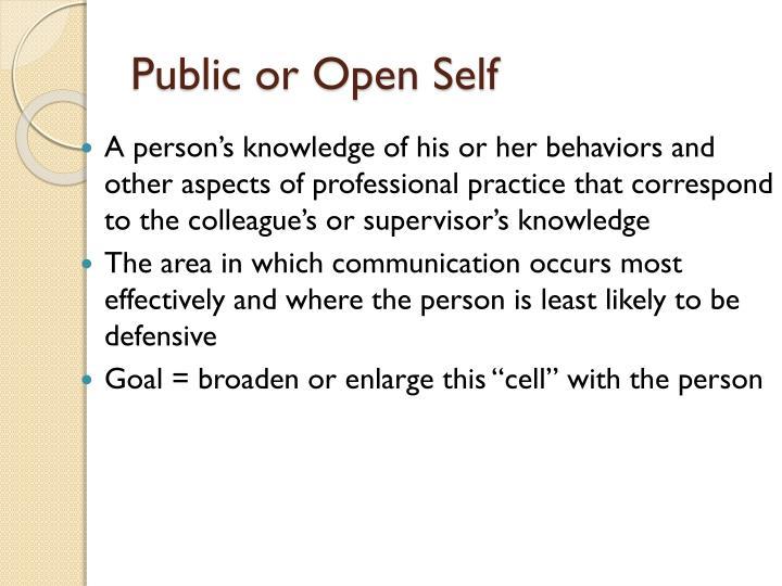 Public or Open Self
