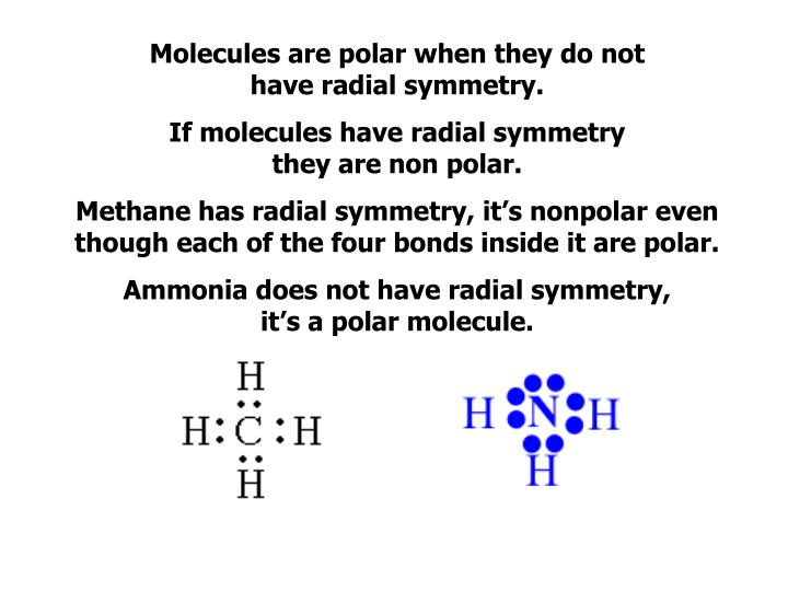 Molecules are polar when they do not