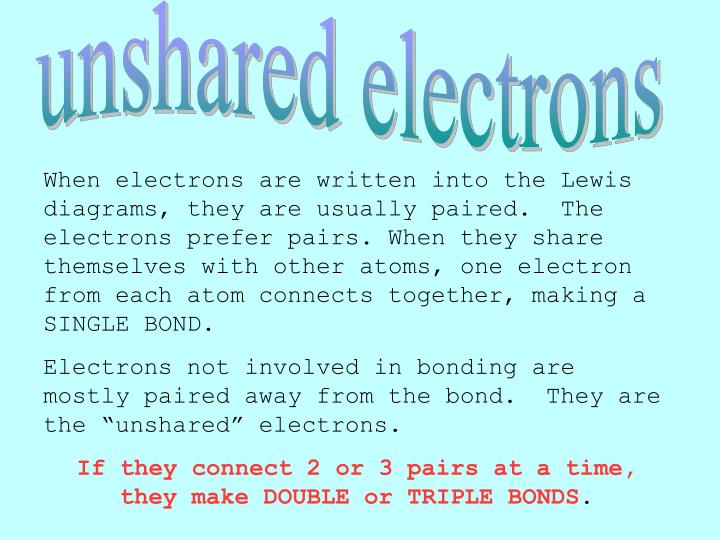 unshared electrons