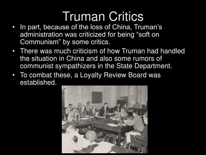Truman Critics