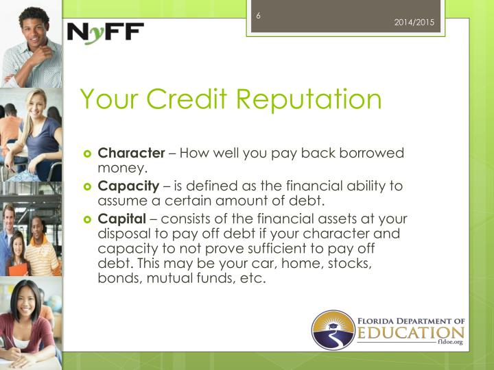 Your Credit Reputation
