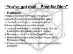 you ve got mail post f r dich