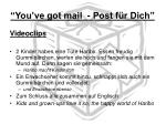 you ve got mail post f r dich5