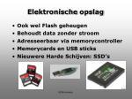 elektronische opslag