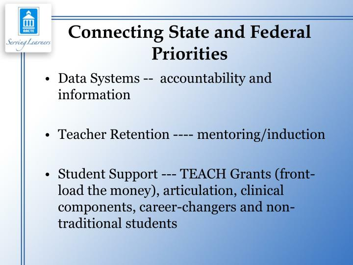 Connecting State and Federal Priorities