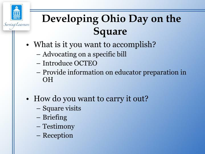 Developing Ohio Day on the Square
