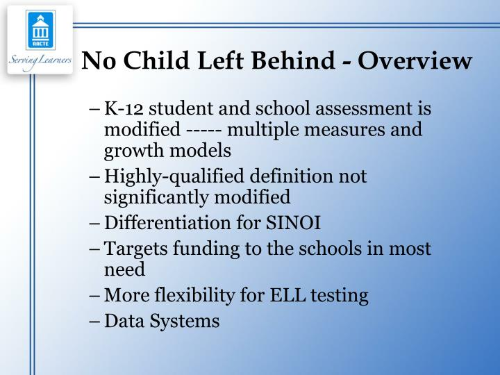 No Child Left Behind - Overview