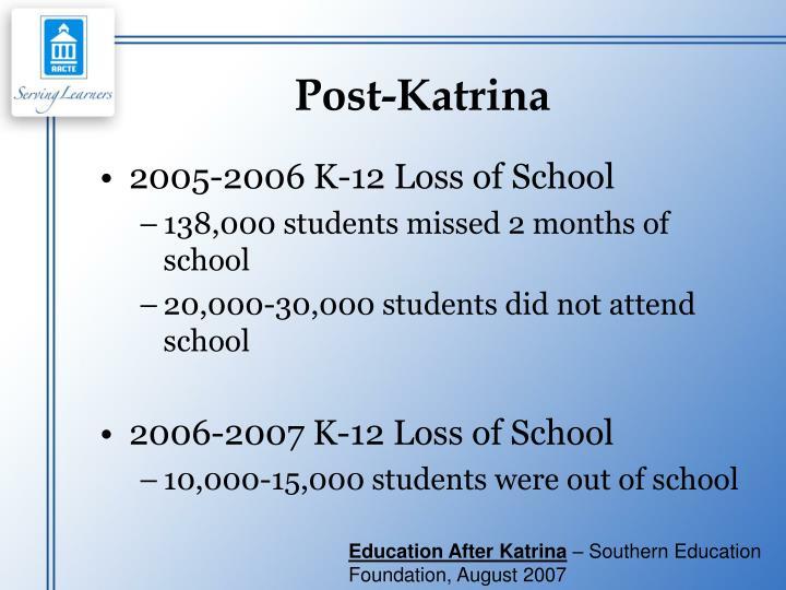 Post-Katrina