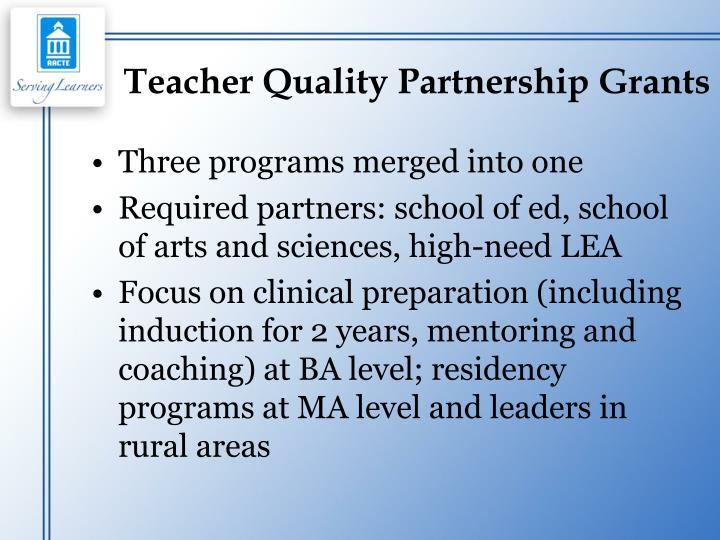 Teacher Quality Partnership Grants