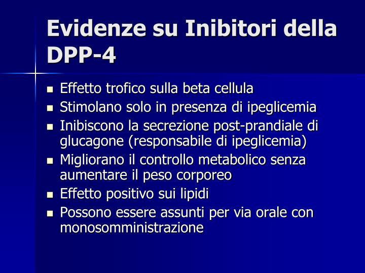 Evidenze su Inibitori della DPP-4