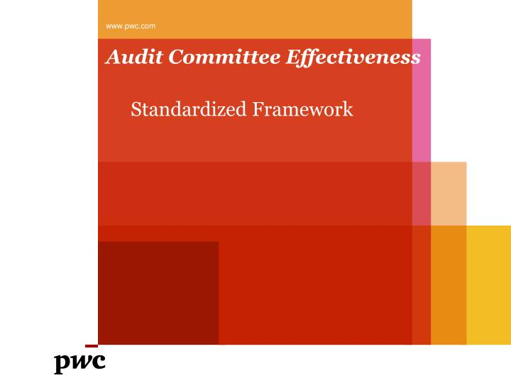 Audit committee effectiveness