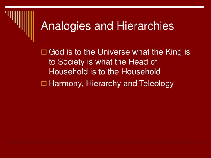 Analogies and Hierarchies