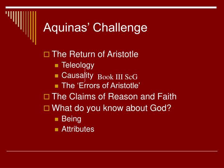 Aquinas' Challenge
