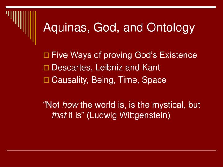 Aquinas, God, and Ontology