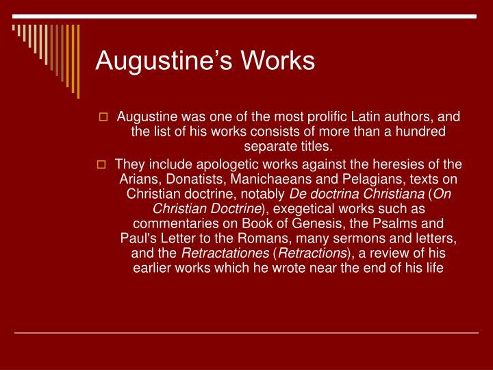 Augustine's Works