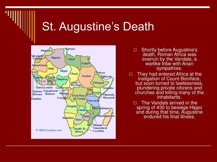 St. Augustine's Death