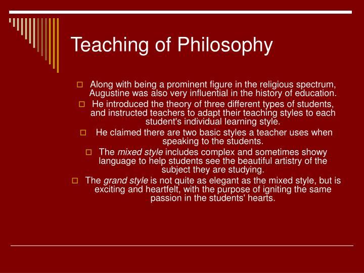 Teaching of Philosophy