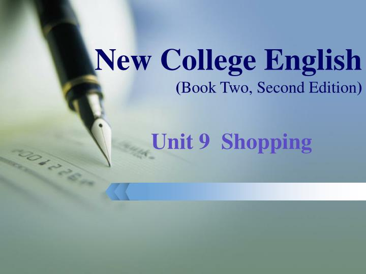 New college english book two second edition