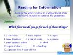 reading for information1
