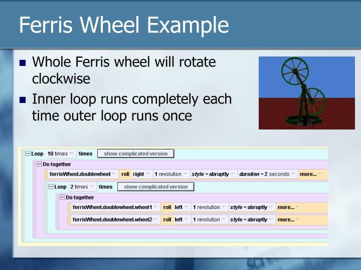 Ferris Wheel Example