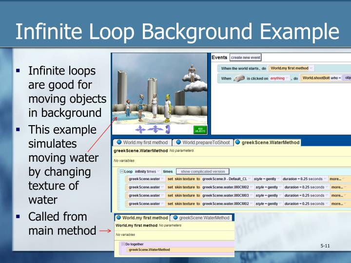Infinite Loop Background Example