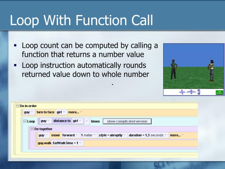 Loop With Function Call