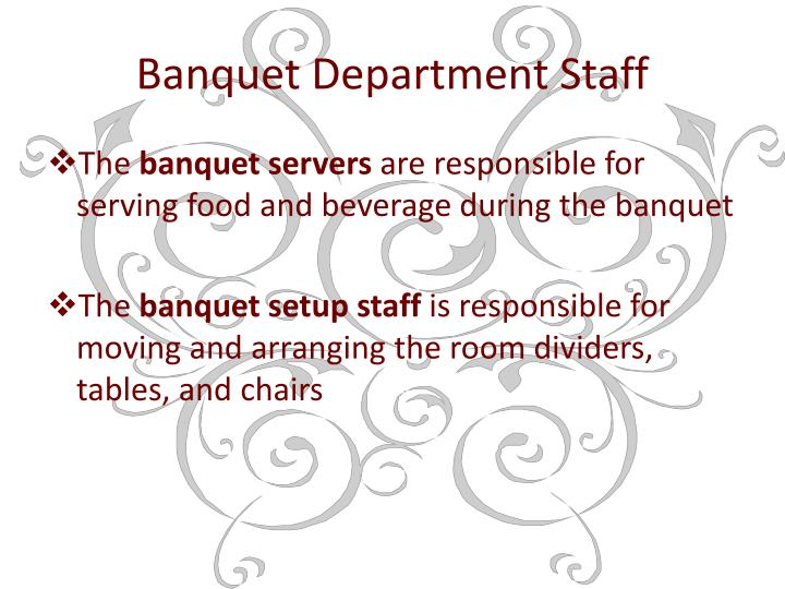 Banquet Department Staff
