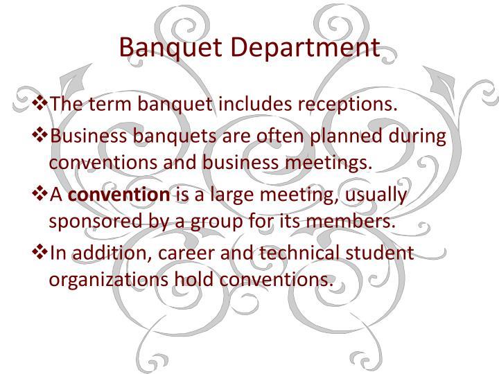 Banquet Department