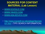 sources for content material lab lesson
