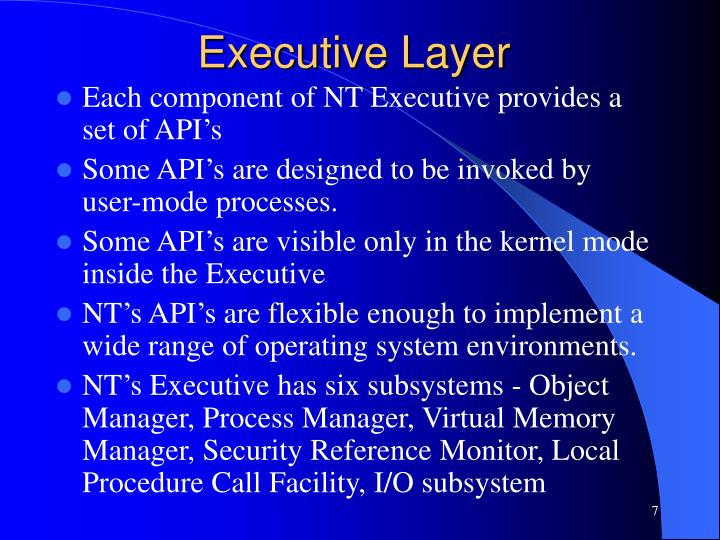 Executive Layer
