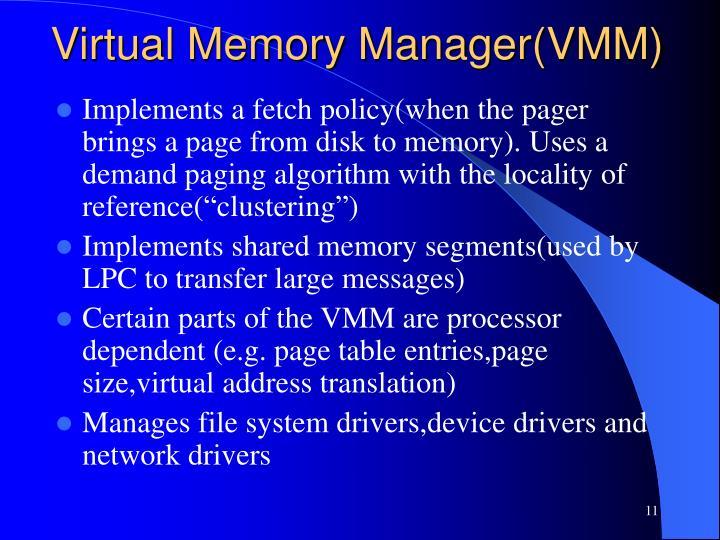 Virtual Memory Manager(VMM)