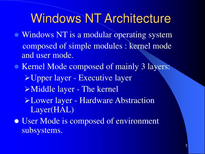 Windows NT Architecture