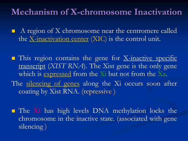 Mechanism of X-chromosome Inactivation
