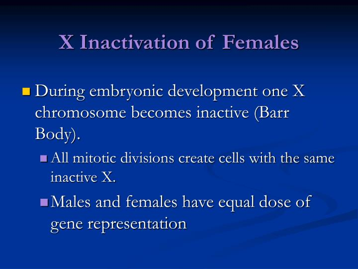 X Inactivation of Females