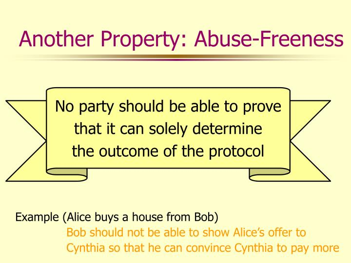 Another Property: Abuse-Freeness