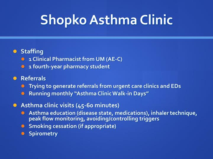 Shopko Asthma Clinic
