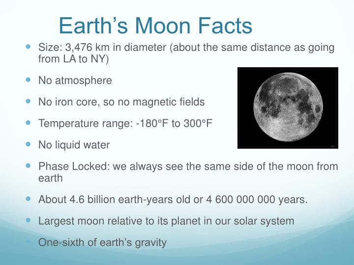 Earth's Moon Facts