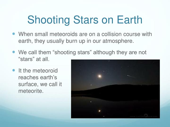 Shooting Stars on Earth