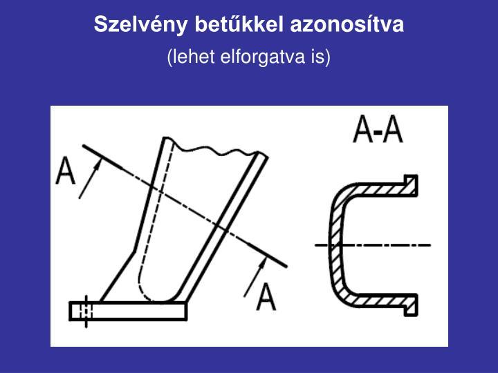 Szelvény betűkkel