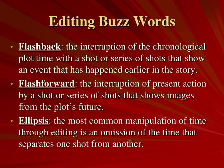 Editing Buzz Words