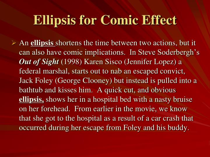 Ellipsis for Comic Effect