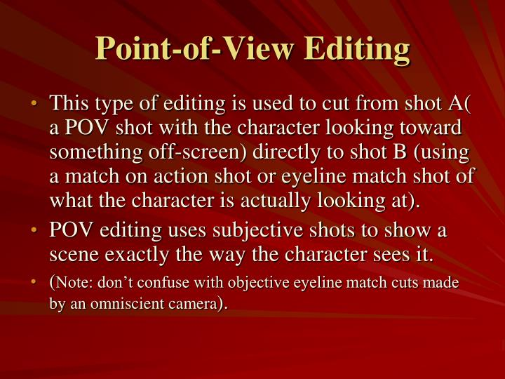 Point-of-View Editing