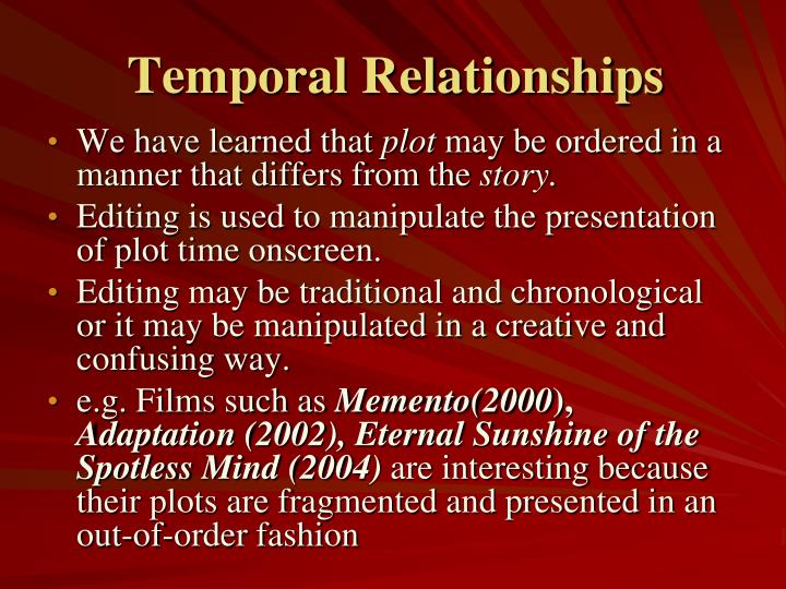 Temporal Relationships
