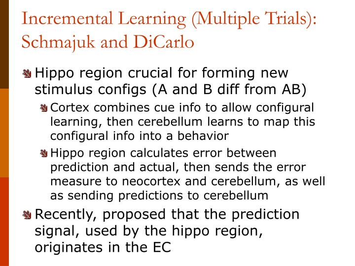 Incremental Learning (Multiple Trials):