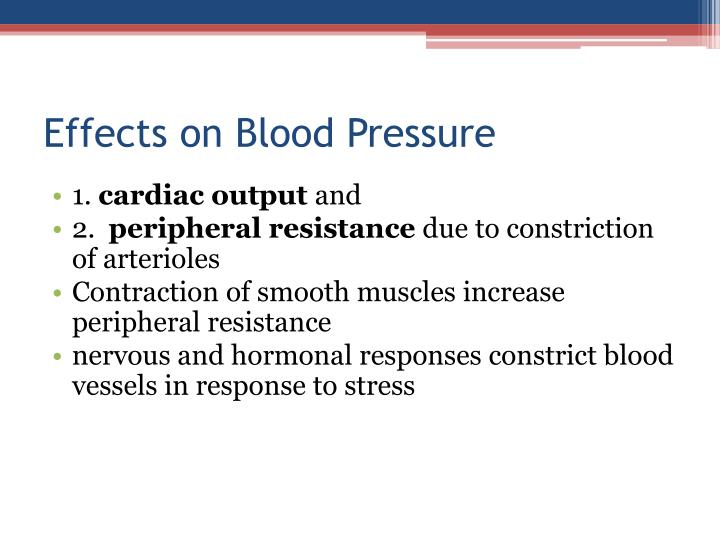 Effects on Blood Pressure